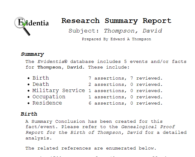 research report summary