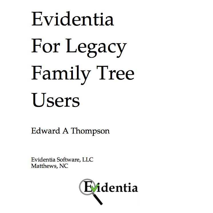 Evidentia for Legacy (PDF)